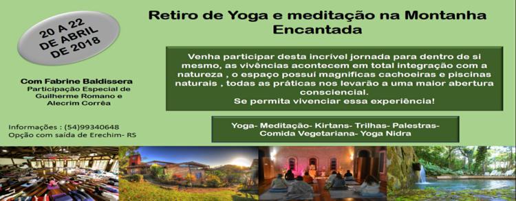 20 a 22 abril 2018 – Retiro de Yoga e Meditação – Fabrine Baldissera (LOCAÇÃO)