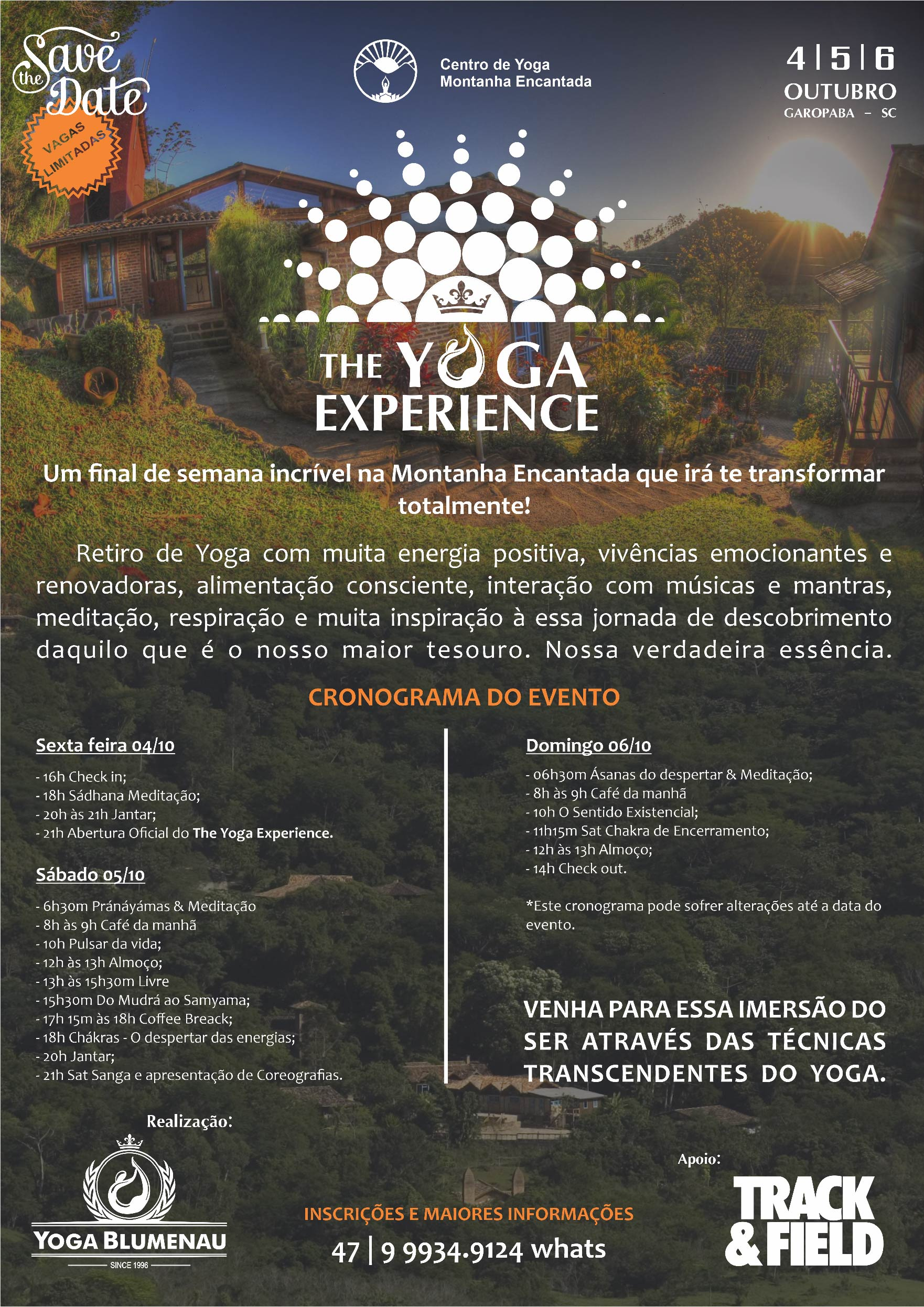 The Yoga Experience 2019  cartaz com cronograma